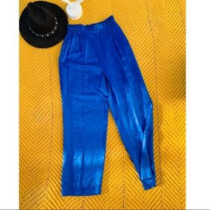 Nordstrom Royal Blue Silk Pants